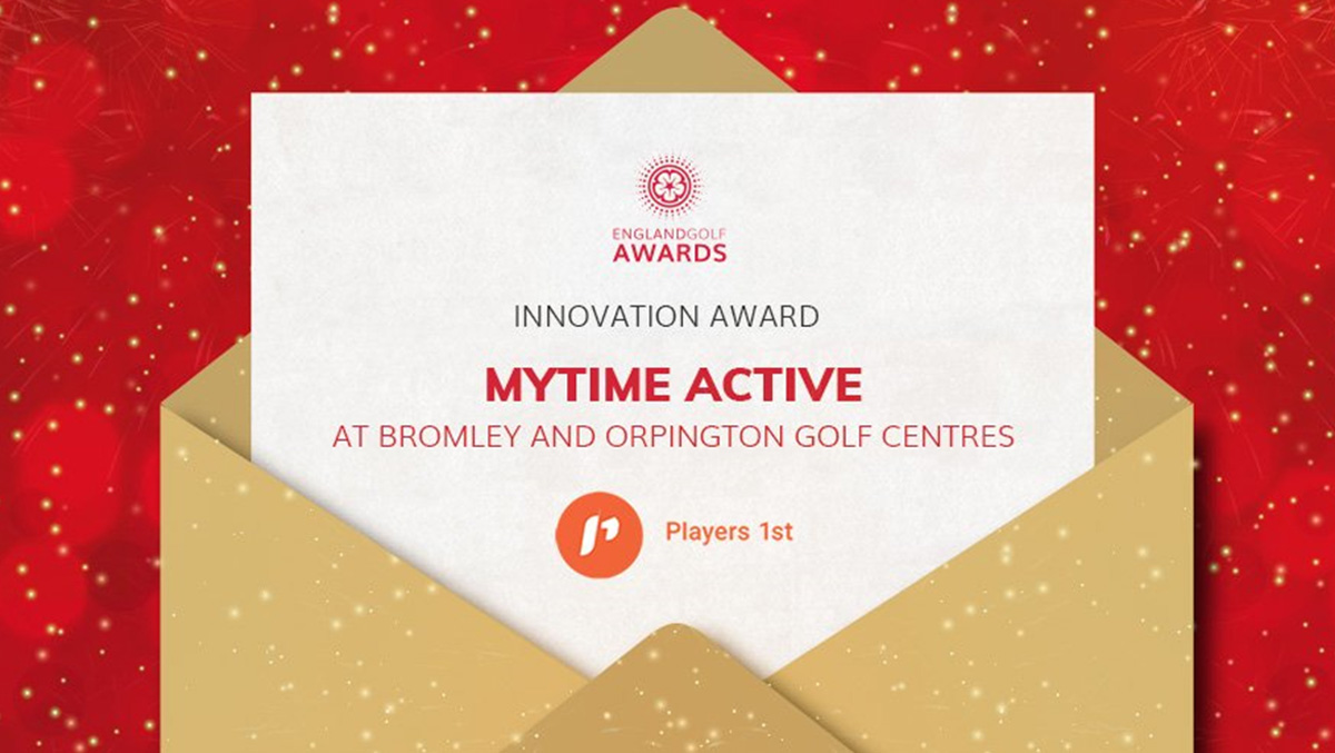England Golf award for innovation for Mytime Active