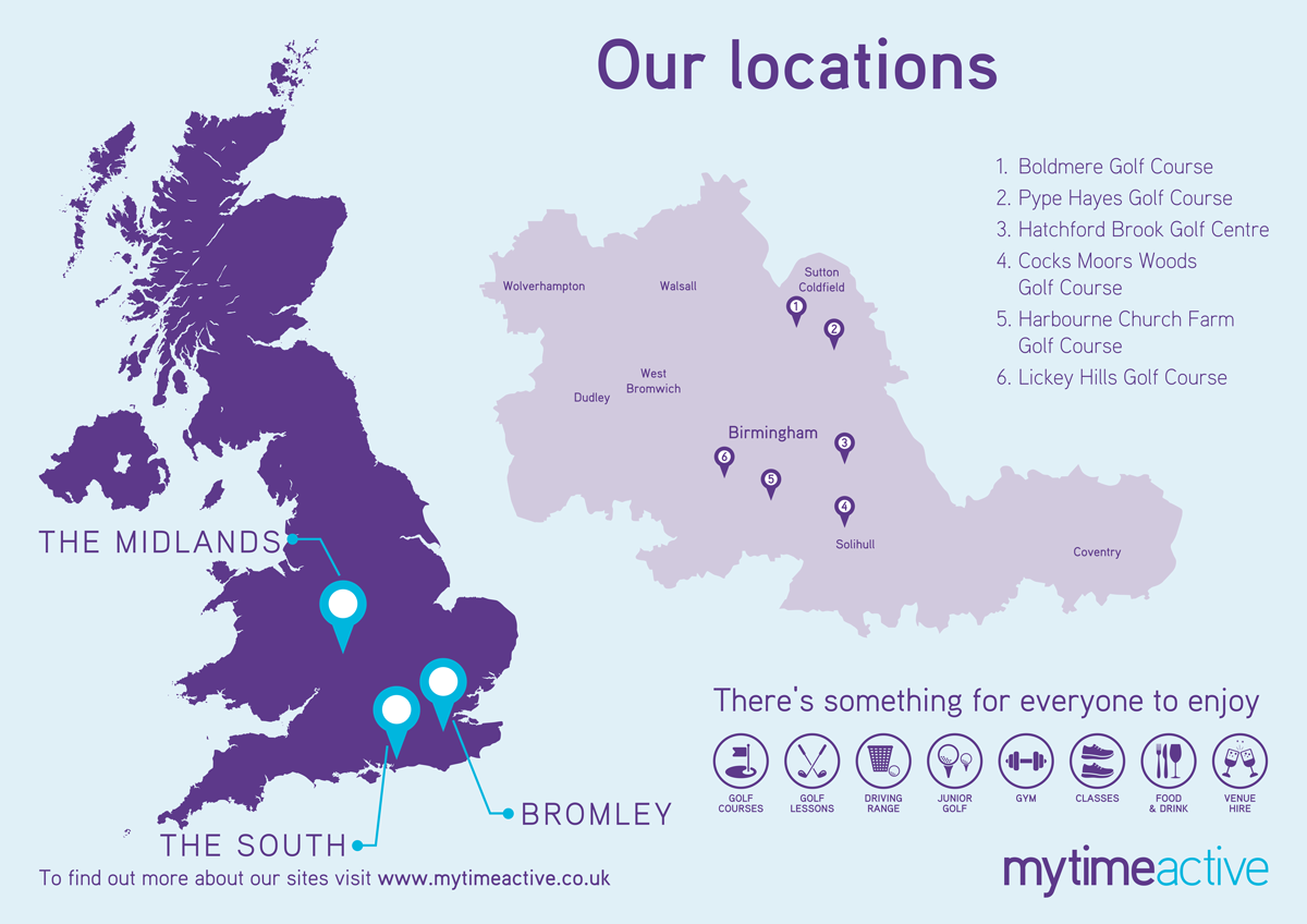 Map of our services in the Midlands