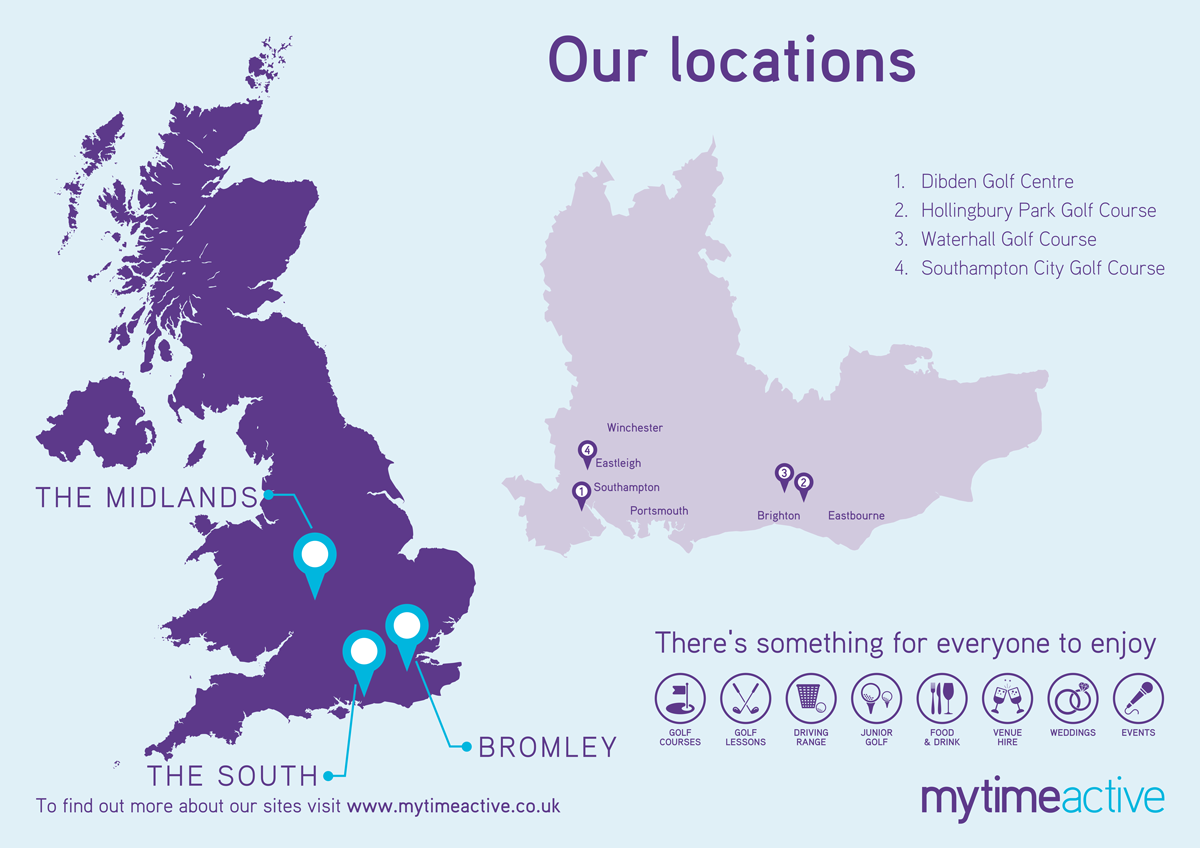 Map of our services in the South