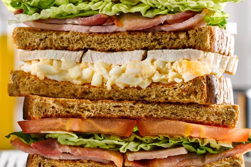Large club sandwich