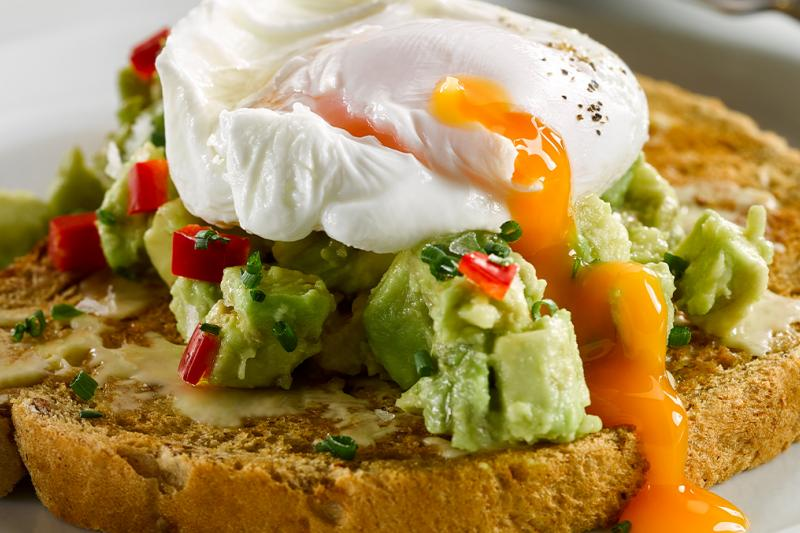 Breakfast - toast with advocado and egg